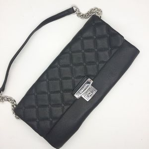 NWOT Calvin Klein Black Quilted Leather Chain Stra